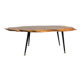 1960's <Mid Century Modern Live Edge Table / Side Table / Coffee Table For Sale