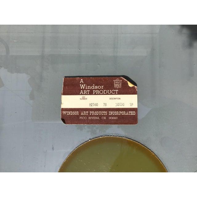 1980s Vintage 3D Framed Mirror For Sale - Image 10 of 11