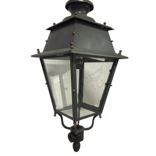 Early 20th Century Victorian Hanging Parisian Street Lantern Lamp For Sale