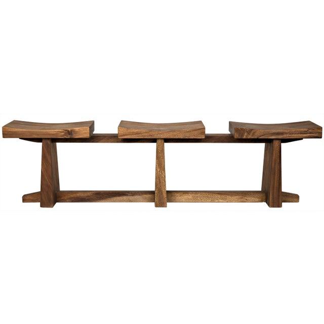 Mid-Century Modern Sango Bench, Munggur Wood For Sale - Image 3 of 3
