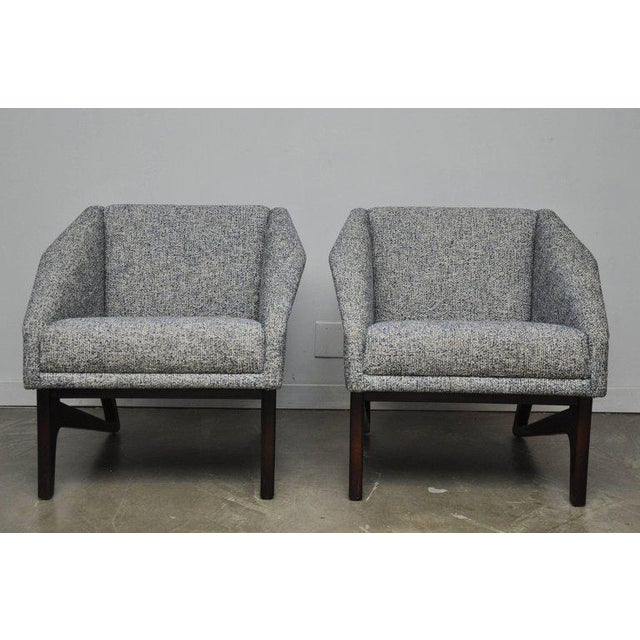 Mid 20th Century Pair of Italian Sculptural Form Lounge Chairs For Sale - Image 5 of 7