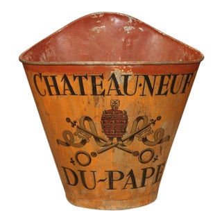 19th Century Chateauneuf Du Pape Grape Harvesting Hotte For Sale