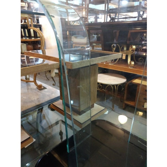 Mid-Century Modern 1940s American Art Moderne Glass Dining Table For Sale - Image 3 of 5