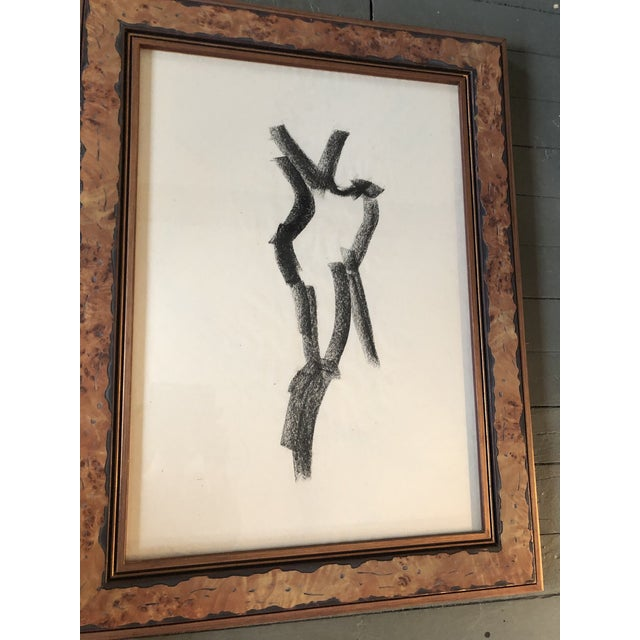 Abstract Original Vintage Abstract Female Nude Charcoal Study For Sale - Image 3 of 5