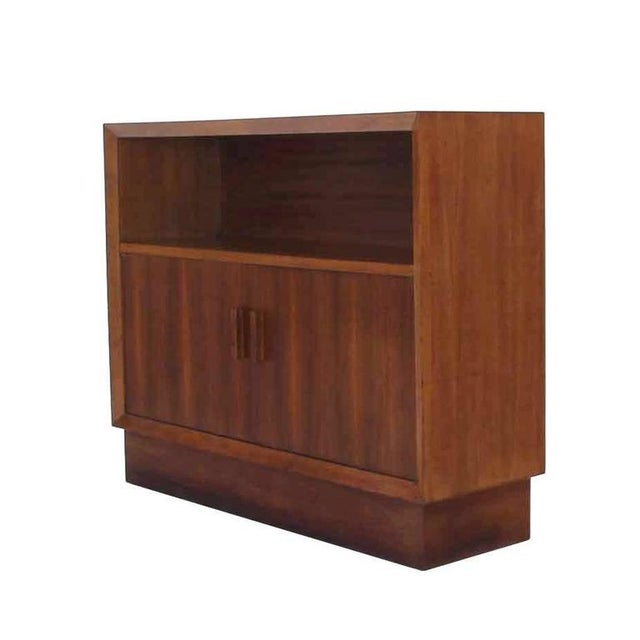 Brown Vintage Mid-Century Walnut Two-Door Cabinets - A Pair For Sale - Image 8 of 10