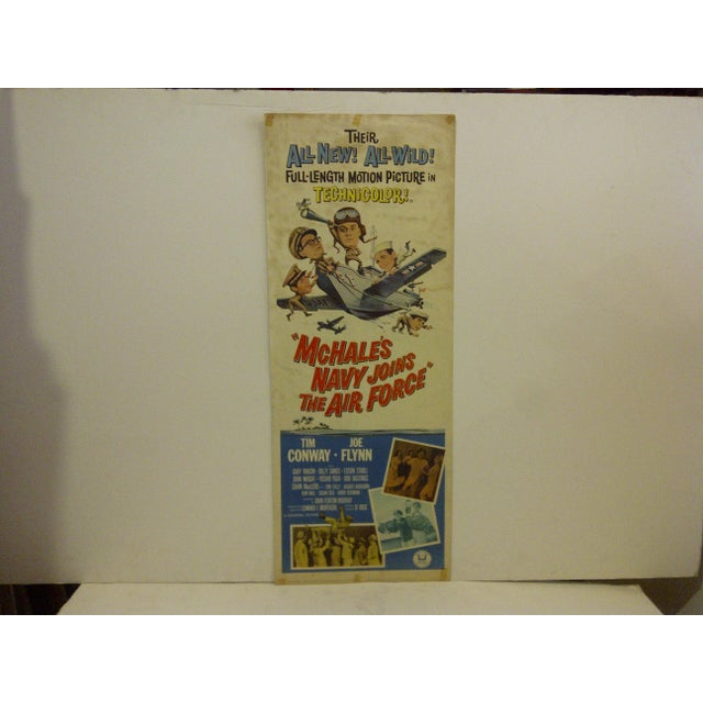 """Vintage movie poster """"McHales Navy Joins the Air Force"""" starring Tim Conway. 65/198. Copyright 1965. Universal Pictures...."""