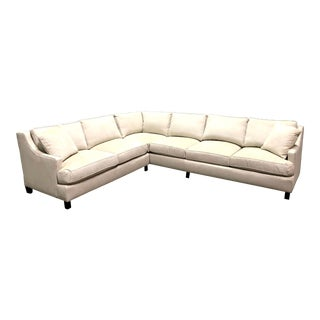Contemporary Custom Tan Sectional For Sale