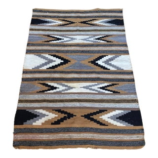 Early 20th Century Antique Navajo Rug - 2′8″ × 3′10″ For Sale
