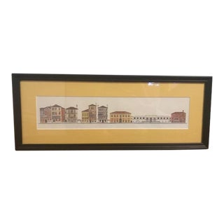 Original Pencil Drawing of Venice, Framed & Matted For Sale