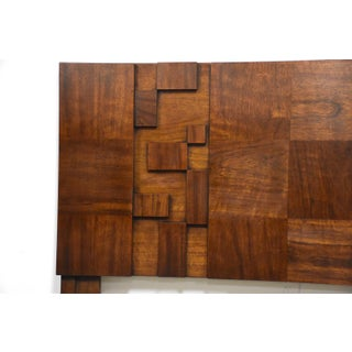 Brutalist Walnut Queen Headboard by Lane Mid Century Modern Preview