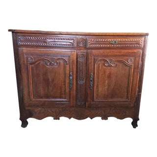18th Century French Provençal Walnut Credenza For Sale