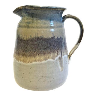 Mid-Century Studio Pottery Stoneware Pitcher For Sale