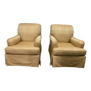 Belmar Upholstery Custom Rolled Arm Chairs - a Pair For Sale
