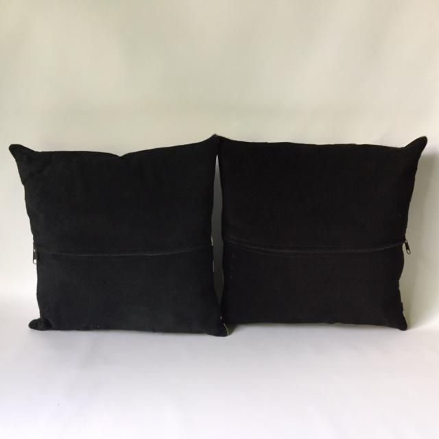 Zebra Printed Hide Pillows - a Pair - Image 8 of 8