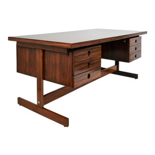 1965 Sérgio Rodrigues Mid-Century Modern Desk in Jacaranda Wood For Sale
