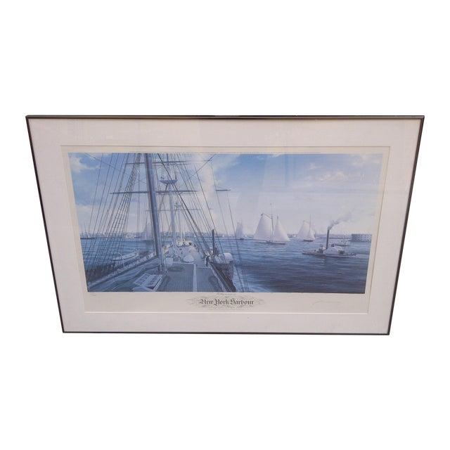 John Mecray New York Harbour Print, 1851 For Sale