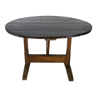19th C. French Walnut Wine Tasting Table For Sale