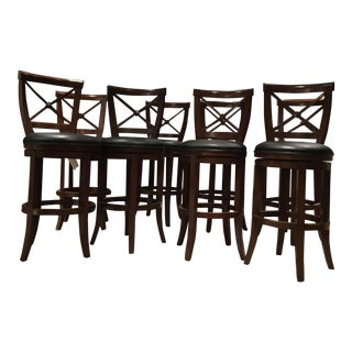 Frontgate Wooden Bar Stools - Set of 8