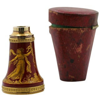 Early 19th Century Empire Painted and Lacquered Spyglass For Sale