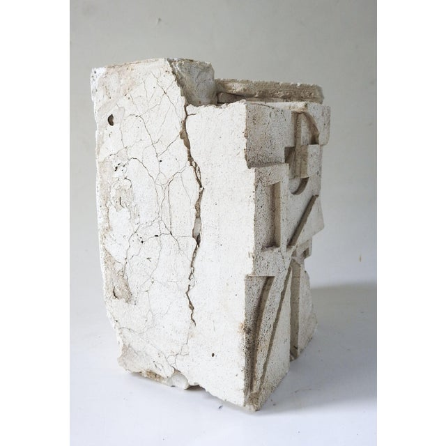 Abstract Plaster Abstract Sculpture For Sale - Image 3 of 7