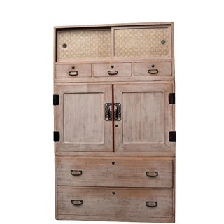 Japanese Tansu Chest Asian Wardrobe, Set of 3 For Sale