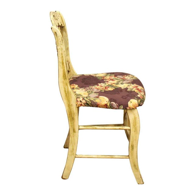 Pair of Wooden Chairs With Floral Seat - Image 5 of 10