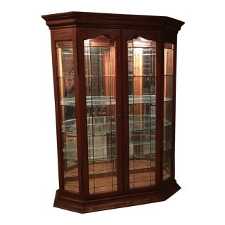 Thomasville Solid Wood Curio Cabinet For Sale