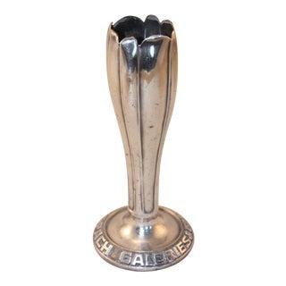 Vintage Hotel Silver Vase For Sale