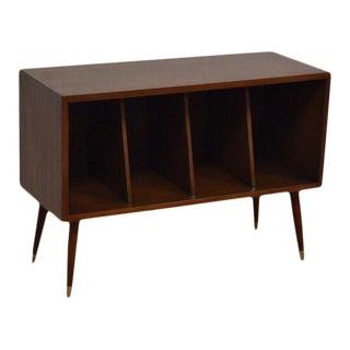 Walnut Record Cabinet Bookcase