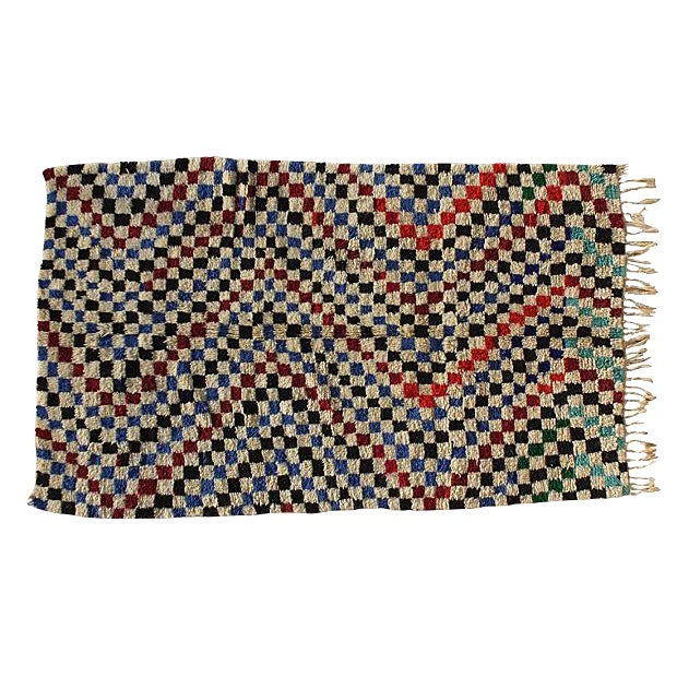 Hand Knotted Moroccan Rug - 7'8 X 3'8'' - Image 1 of 4