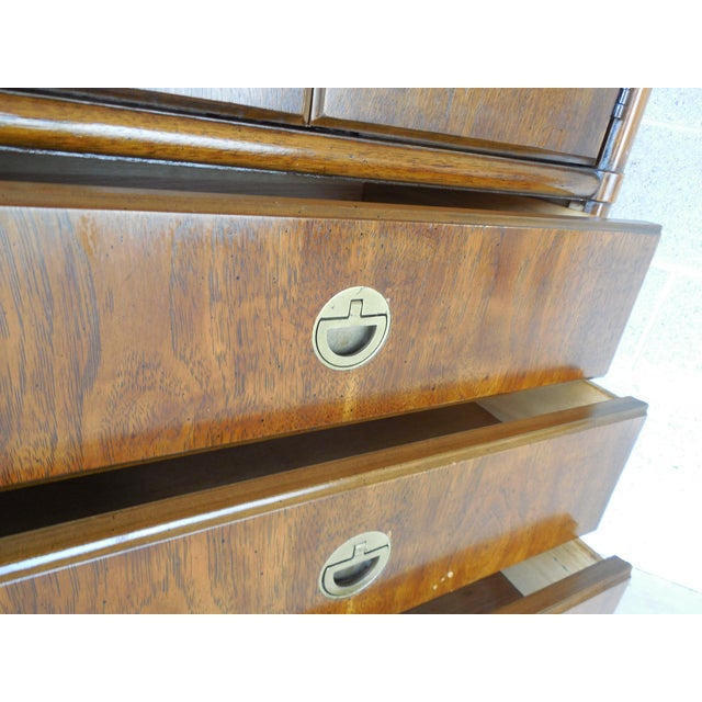 Drexel Heritage Accolade Campaign Style Armoire For Sale - Image 10 of 11
