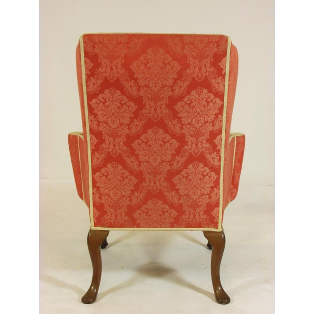Late 19th Century George II Style Wing-Back Chairs - a Pair For Sale In Boston - Image 6 of 12