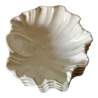 Ceramic Shell Dessert Bowls - Set of 4