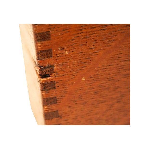 Antique Oak Storage Box - Image 4 of 7