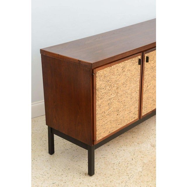 Bronze Italian Modern Mahogany and Cork Four-Door Credenza or Buffet For Sale - Image 7 of 9