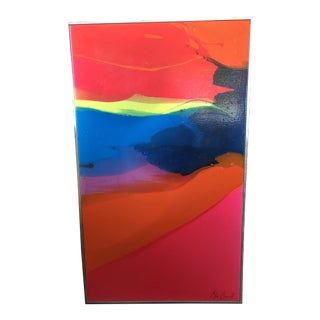 1970s Vintage Marianne Macdonald Abstract Painting For Sale