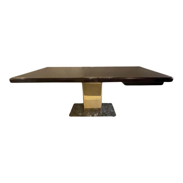 Warren Platner Desk Mid-Century Modern on a Rosewood, Brass and Marble Base For Sale