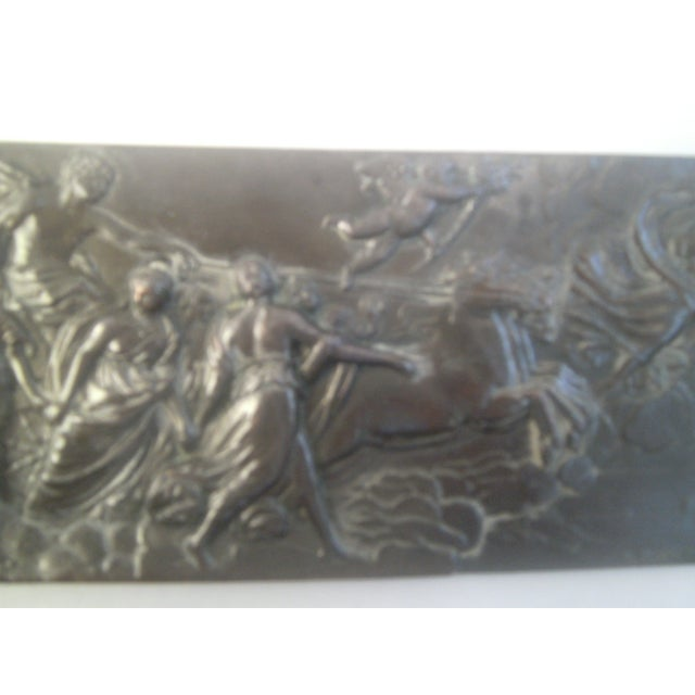 Neoclassical Bronzed Relief R.O. Prof. G. Gambogi For Sale - Image 5 of 10