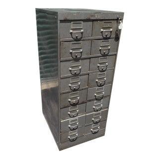 Mid Century Modern Shaw Walker Card File Cabinet