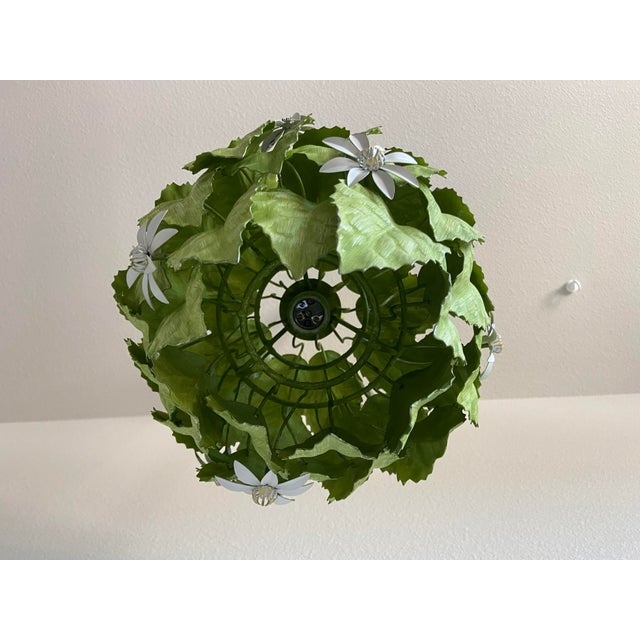 Leafy Italian Pendant Light For Sale In Austin - Image 6 of 10