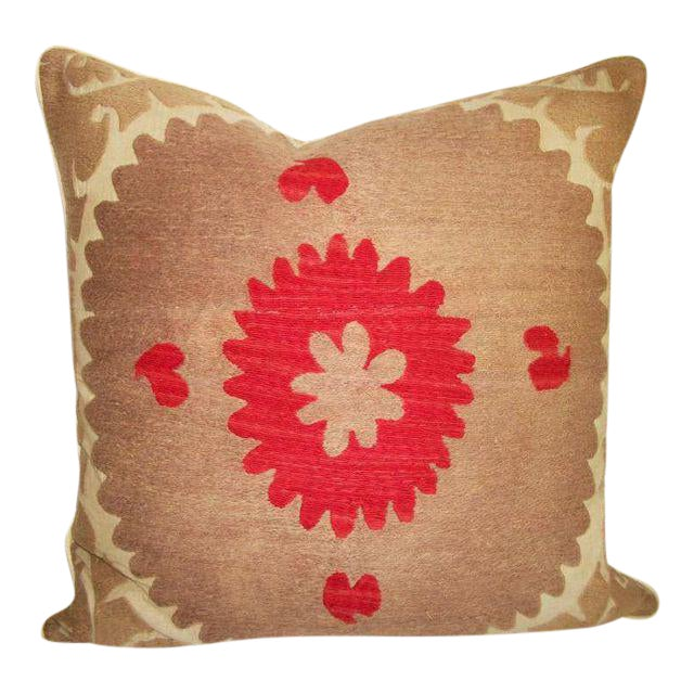 Embroidered Persian Accent Pillow For Sale