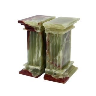 Green Marble Bookends - a Pair For Sale
