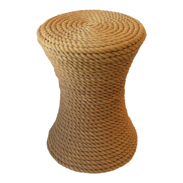 Nautical Rope Round Side or End Table For Sale