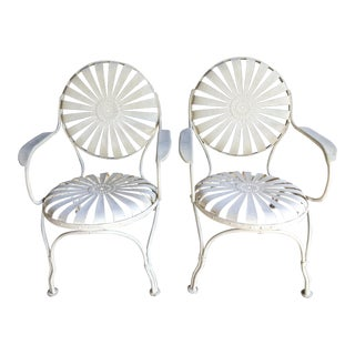 Francois Carre Patio Chairs, a Pair For Sale