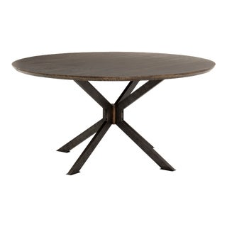 Erdos + Ko Skylar Round Dining Table- English Brown Oak For Sale