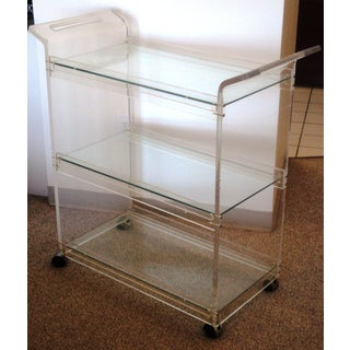 American Hustle Lucite Bar Cart Preview