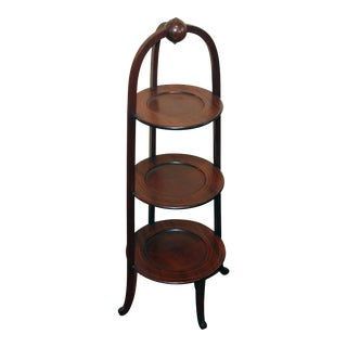 English Edwardian Muffin Stand For Sale