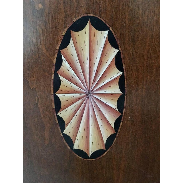 Wood 20th Century Leather Book Room Divider For Sale - Image 7 of 9