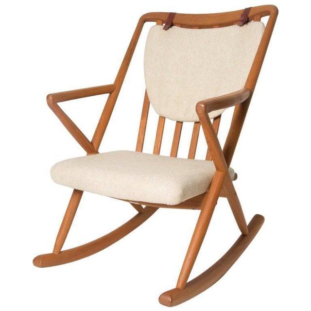 Benny Linden Danish Mid-Century Teak Rocking Chair For Sale - Image 11 of 11