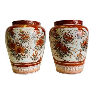 Kutani Vases, Early 20th Century-Pair For Sale